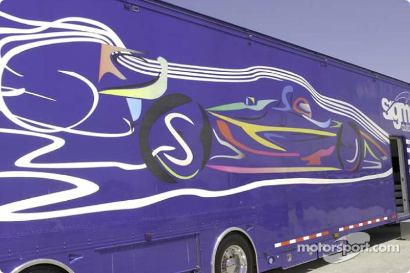 Sigma Autosport transporter