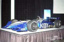 The new colors for Dario Franchitti's car
