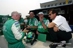 Paul Tracy and team owner Barry Green