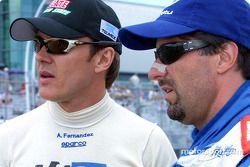 Adrián Fernández y Michael Andretti