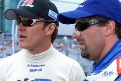 Adrian Fernandez and Michael Andretti