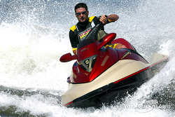Team Player's driver Alex Tagliani took some time off to do a Sea-Doo ride on the waters of False Cr