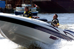 Team Player's drivers Alex Tagliani and Patrick Carpentier took some time off to do some speedboating on the waters of False Creek in Vancouver