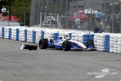 Michael Andretti in the tire wall