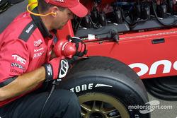 Scrubbing the tires