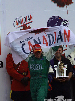 The podium: Paul Tracy