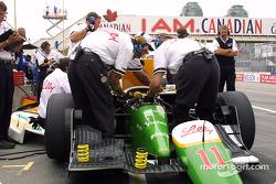 Les membres de l'équipe Newman-Haas