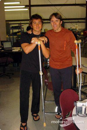Shinji Nakano y Adrián Fernández