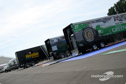 Preparación en el circuitoo Gilles-Villeneuve