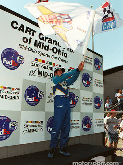 Happy pole winner