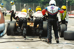 Fittipaldi exit pits