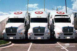Ganassi Racing transporters