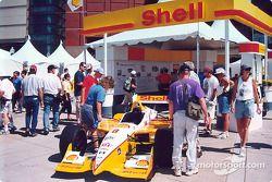 Team Rahal Shell car on display