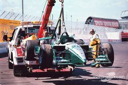 Paul Tracy's wrecked car