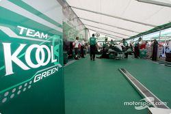 Garage de l'équipe KOOL Green