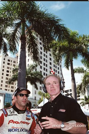 Tony Kanaan and Derek Daly