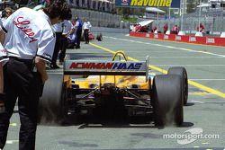 Christian Fittipaldi leaves pit