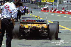 Christian Fittipaldi leaves pit