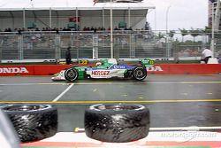 Mario Dominguez leaves pits