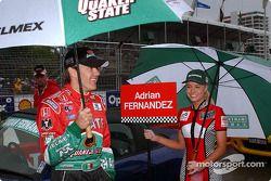 Adrian Fernandez on starting grid