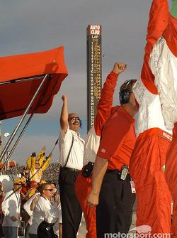 Bobby Rahal and Team Rahal celebrates victory