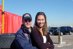 Adrian Fernandez with girlfriend Michelle