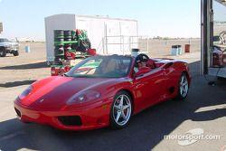 Adrian Fernandez and his Ferrari