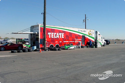 Fernandez Racing's transporter