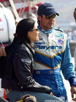 Alex Tagliani with his girlfriend