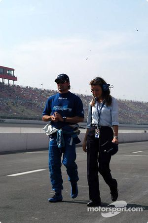 Alex Tagliani with Team Player's PR officer Pat Caporali