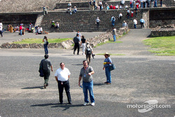 Visit at Teotihuacan pyramids: Father Phil and Dave Johnson