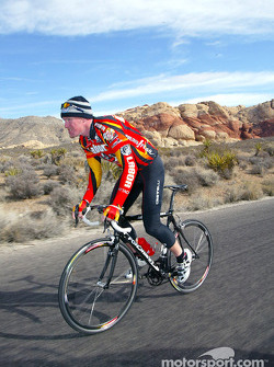 Paul Tracy on his road bike