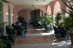Relaxing on the veranda at the Vinoy Resort
