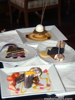 Desert tray in the Vinoy Resort resturant