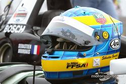 Sébastien Bourdais' helmet