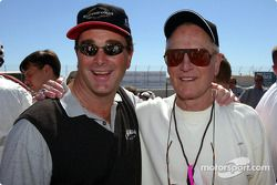 Paul Newman and Nigel Mansell