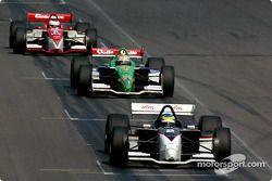 Sébastien Bourdais leads Mario Dominguez and Michel Jourdain Jr.