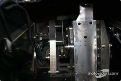 The modified brake pedal on Alex Zanardi's modified Champ car