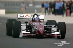 Alex Zanardi does his 13-lap demo run