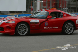 La voiture de lancement officielle du Champ Car sur la piste