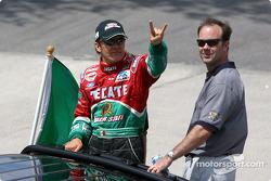 Drivers parade: Adrian Fernandez