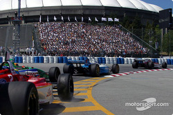 The start: Sébastien Bourdais hits Roberto Moreno