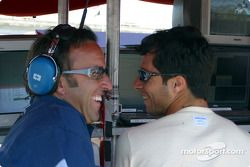 Calvin Fish shares a laugh with Bruno Junqueira