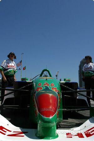 Roberto Moreno's car is ready