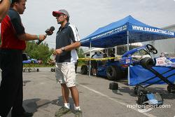 Rocketsports-Tagliani karting event: TV interviews for Alex Tagliani