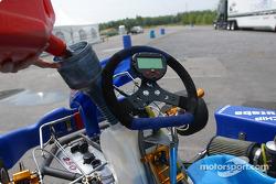 Rocketsports-Tagliani karting event: refueling Alex Tagliani's CRG-TM kart