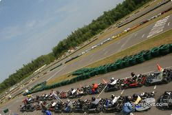 Rocketsports-Tagliani karting event: grid for the Rocketsports team race