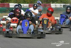 Rocketsports-Tagliani karting event: start of the Rocketsports team race