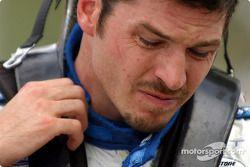 Patrick Carpentier after his crash