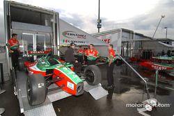 Fernandez Racing paddock area